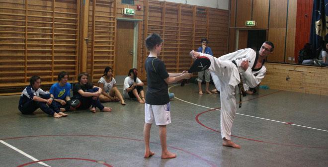 Tae Kwon Do på timeplanen Master Ragnar underviser på skoler
